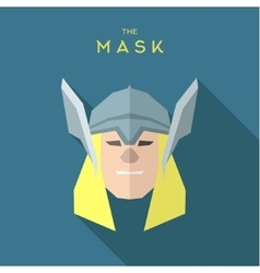 Hero mask in a quality superhero helmet into flat vector