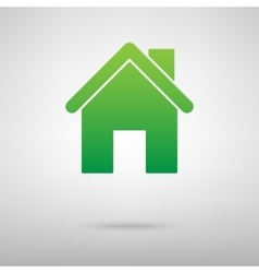 Home symbol green icon vector