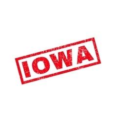 Iowa rubber stamp vector
