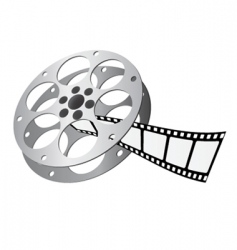 movie reel vector image