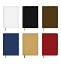 Notebook diary blank cover set vector