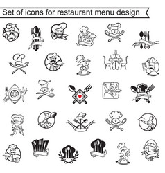 restaurant menu design set vector image vector image