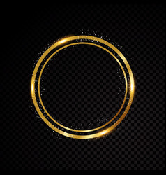 round frame shining circle banner vector image vector image