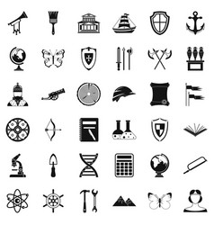 Searching icons set simple style vector
