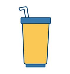 soda delicious drink vector image