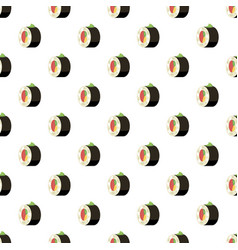 Sushi roll pattern vector