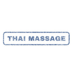 thai massage textile stamp vector image