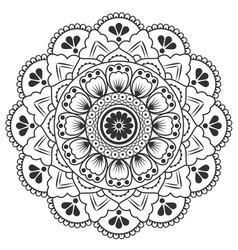Thai round flower art design image vector