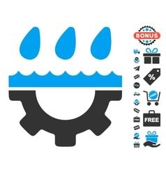 Water gear drops icon with free bonus vector