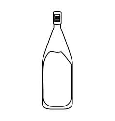 Wine bottle isolated vector