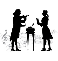 Classical musicians vector image