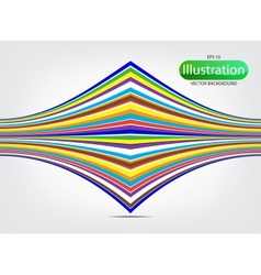 colorful wave background with shadow vector image