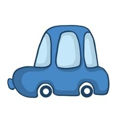 Blue car for kids design vector image