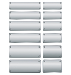 steel plates with screws vector image