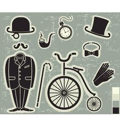 gentlemens fashion vector image