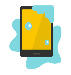 Wet phone icon isolated vector