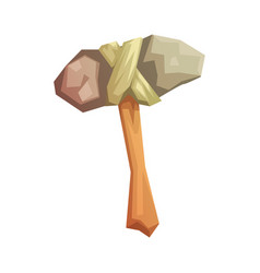 prehistoric stone axe colorful vector image