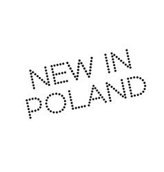 new in poland rubber stamp vector image