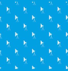 Studio lighting equipment pattern seamless blue vector