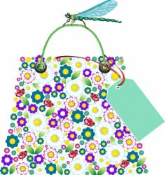 Flower bag vector