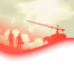 construction and worker vector image