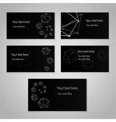 Black cards vector