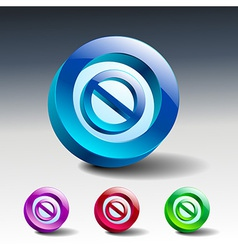 Sign no stop ban warning icon vector