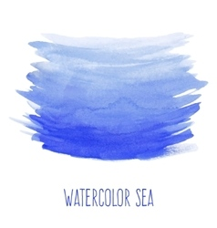 Hand painted watercolor sea vector