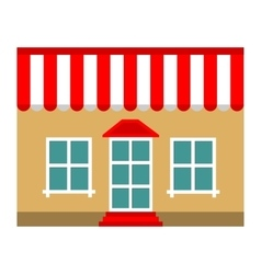 Building shop store flat icon vector