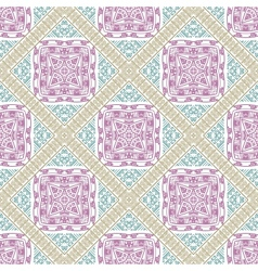 Seamless ornamental ethnicity pattern vector image