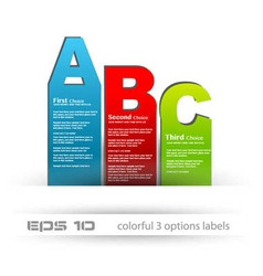 ABC banner tags vector image vector image