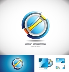 Abstract circle sphere 3d logo icon design vector image