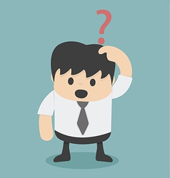 Businessman confusing vector image