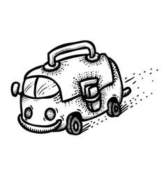 cartoon image of back to school concept school vector image