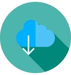 Cloud with downward arrow vector