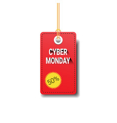 Cyber monday tag isolated online sale logo design vector