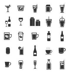 Drink icons on white background vector