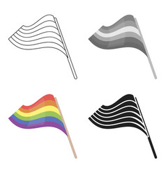 Flags icon cartoon single gay icon from the big vector