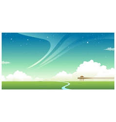Green landscape with jetty vector image vector image