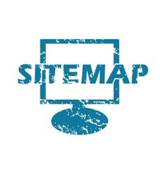 Grunge sitemap icon vector