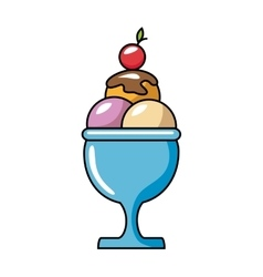 Ice cream delicious isolated icon vector