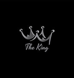 King crown logo template vector