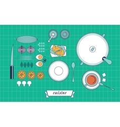 Kitchen still life set vector