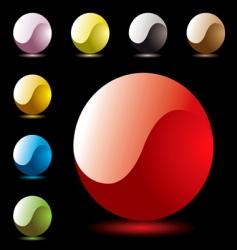 marble shine ying yang vector image vector image
