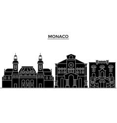 Monaco architecture city skyline travel vector