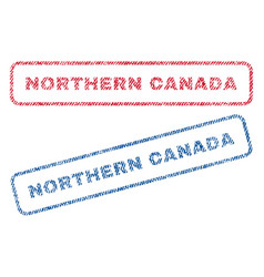 Northern canada textile stamps vector