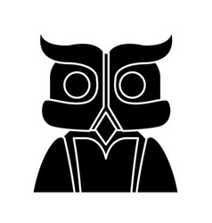 owl bird symbol vector image