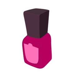 Purple nail polish bottle icon cartoon style vector image