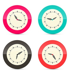 Retro Alarm Clock Set Isolated on White Background vector image
