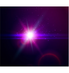 shining blue color light effects with vector image vector image